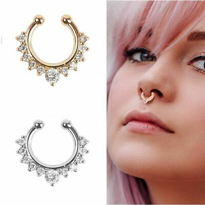 5Pcs Indian Style Nose Ring Hoop Studs for Women Favor Jewelry for Body