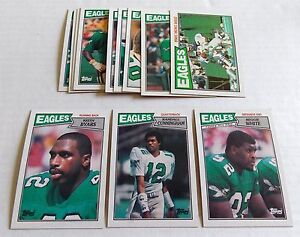 1987-Topps-Football-Philadelphia-Eagles-Team-Set-12-Cards-Cunningham-Rookie