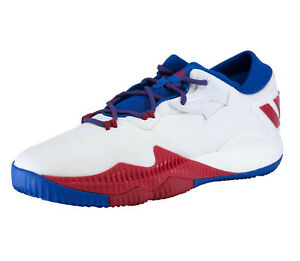 sneakers for cheap 512f9 5af85 Image is loading Mens-Adidas-Crazylight-Boost-Low-2016-White-Basketball-