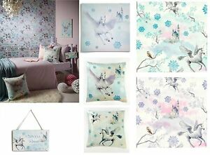 Fairytale Girls Bedroom Unicorn Pegasus Horse Wallpaper Matching