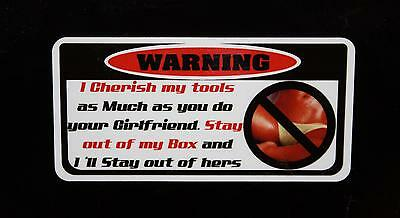 2 for 1 I cherish my tools #2 decal Snap on tool box cart krl classic