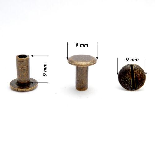 9 mm vis de liaison postes Chicago vis interscrew SCRAPBOOKING Livre A7K