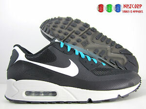 MENS NIKE AIR Max 90 Hyperfuse Shoes Size 11.5 Premium Id 488033 Black Gray Blue