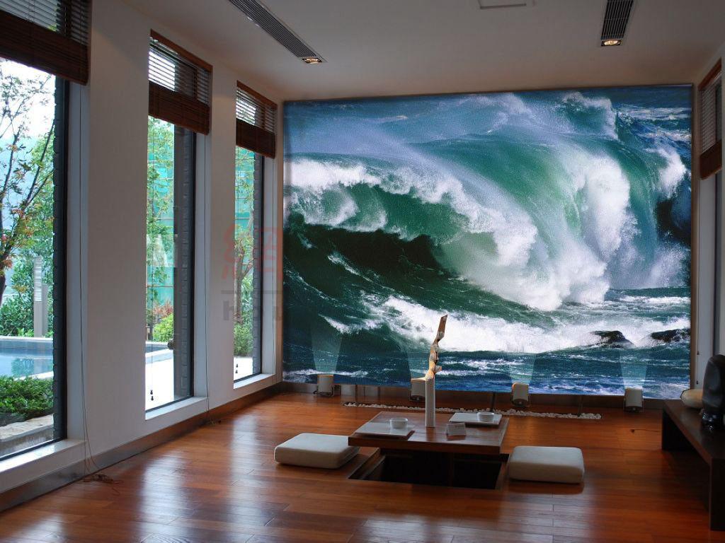 3D bluee Waves 915 Wallpaper Mural Paper Wall Print Wallpaper Murals UK Lemon