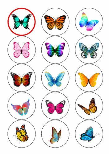 Personalised Butterflys Easy Peel pre-cut Edible Icing Cake Toppers