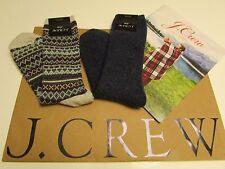 NWT J.Crew Womens Textured trouser socks 2 Pairs  Socks / Fair Isle /
