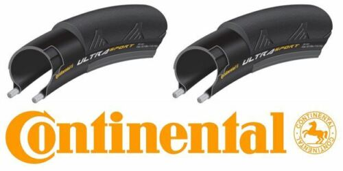 Continental Ultra Sport II Folding Bike Tire Pair Black 700x25c