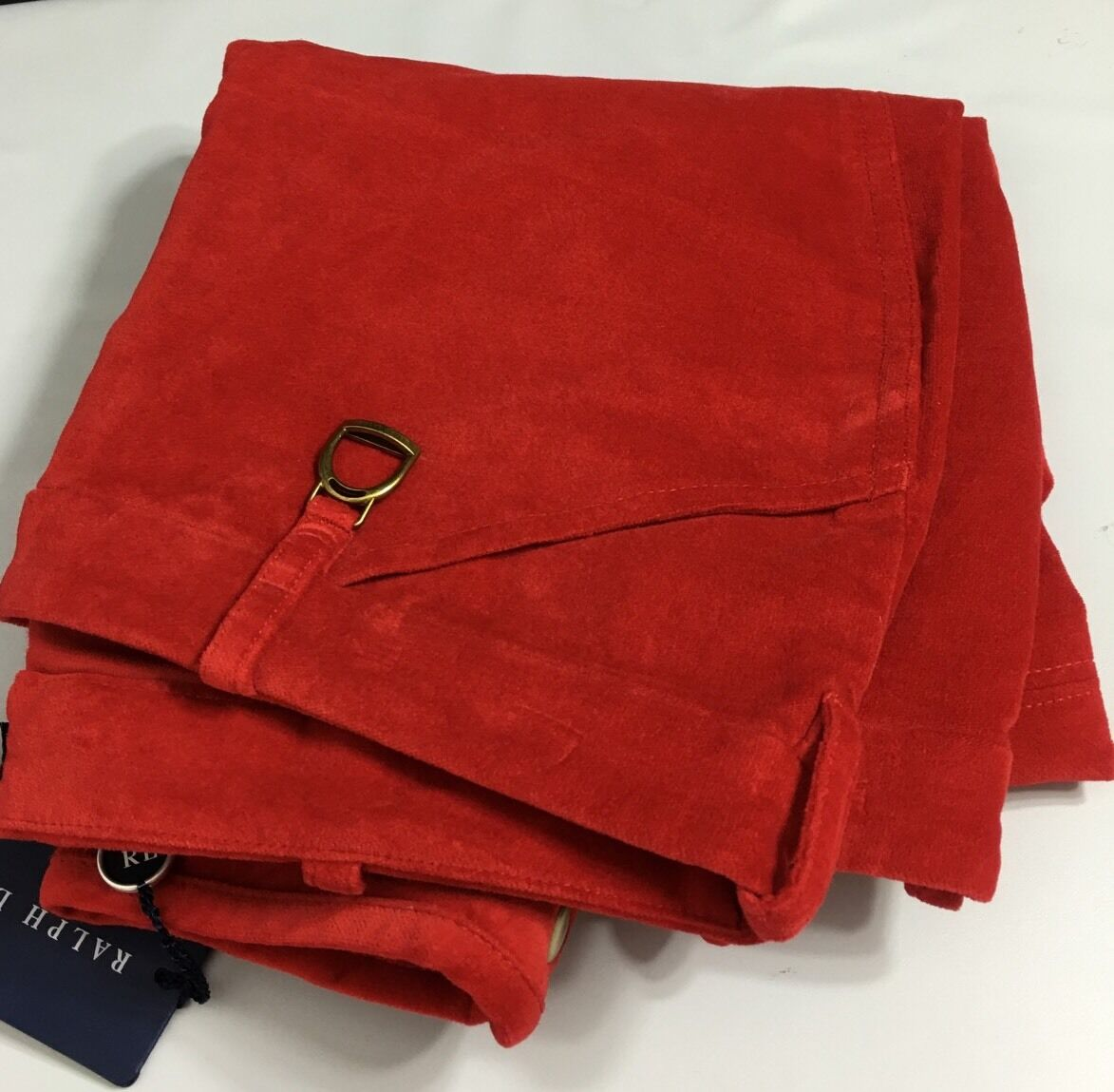 Ralph Lauren Womens Pants Red 6 Brushed Cotton Stirrup