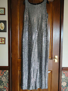 Vintage-Yessica-silver-dress-size-14