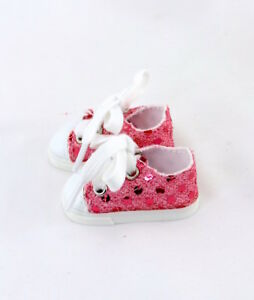 Pink-Sequin-Sneakers-Fits-Wellie-Wishers-14-5-034-American-Girl-Clothes-Shoes