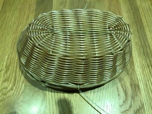 """9x6x2.5/"""" Ref T364 1 x  Pack 6 Olympia Oval Poly Wicker Basket 230x150x65mm"""