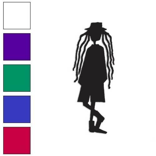 Size #851 Dreads Hippie Dreadlocks Decal Sticker Choose Color