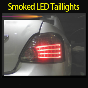 LED-Tail-Lights-Smoked-For-Toyota-Yaris-NCP93-2007-2011-Rear-Left-amp-Right