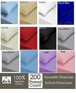 Luxury-100-Egyptian-Cotton-200-Thread-Count-Pillow-Cases-Or-Oxford-PillowCover