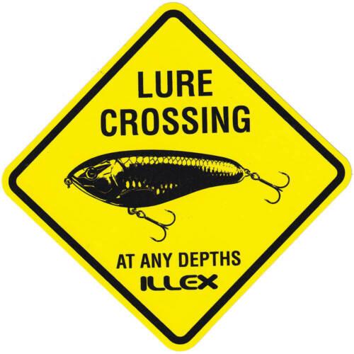 Illex Aufkleber Lure Crossing 9x9cm Fanaufkleber Sticker Fansticker schwarz-gelb