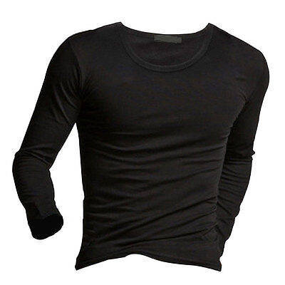 Neuf Mode Homme Manches Longues T Shirts Pull Slim Fit Tops Blouse Tee Chemis