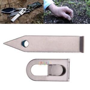 EDC Gear Tweezers Stainless Tick Gripper Survival Bushcraft Pocket Keychain、Pop