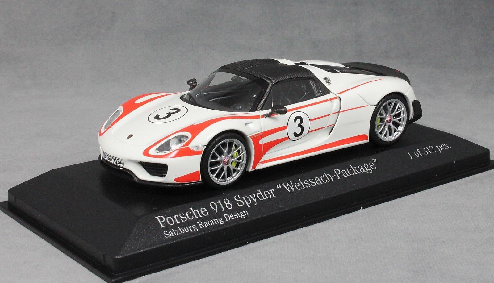 Minichamps Porsche 918 Spyder Weissach, - - - Paquete  Salzburgo Racing  2015 410062131 f299d0