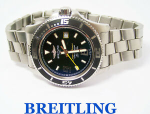 bb08a44f1d5 A imagem está carregando Masculino-BREITLING-Superocean-Automatico-Relogio -Cronometro-2000m-6600-