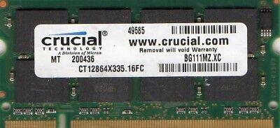 2GB KIT 2 x 1GB HP Compaq Presario R4012US R4015EA R4016EA R4017EA Ram Memory