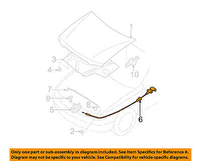 Genuine Nissan 65621-ZK30A Hood Lock Cable