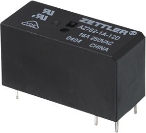 Zettler Electronics AZ762-1A-12DE Printrelais 12 V//DC 16A 1 Schließer 1St.