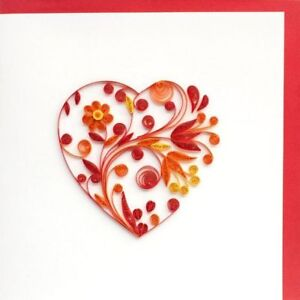 Beautifully Handmade Quilled Valentine Cards Best Valentine Gifts