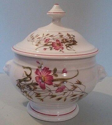 Pot Couvert Bouillon Porcelaine Limoges France Mnp Xxème