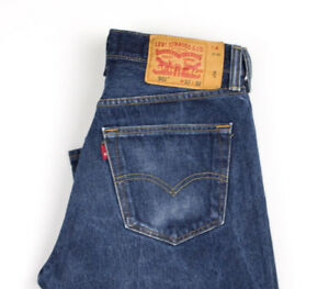 Levi-039-s-Strauss-amp-Co-Hommes-501-Jeans-Jambe-Droite-Taille-W32-L30-AOZ1007