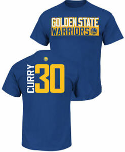 low priced 70604 6e028 Details about Stephen Curry Golden State Warriors Mens Royal Vertical Short  Sleeve T Shirt