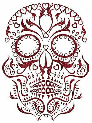 ART PRINT POSTER PAINTING DRAWING ORNATE DAY DEAD SKULL MASK LFMP1085