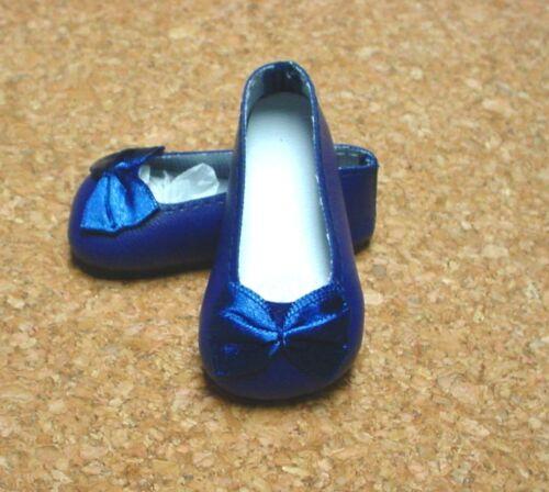 """Magic Attic DOLL Shoes 18/"""" Ann Estelle 69mm NAVY BLUE Slip-ons for SD* BJDs"""