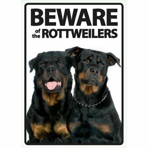 Plastic Beware Of The Dog Warning Security Hanging Sign Plaque Brass Colored