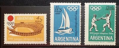 Logical Gj.1281-3 Olympic Games Choice Materials 1964 3-stamp Set .mnh Excellent Condition