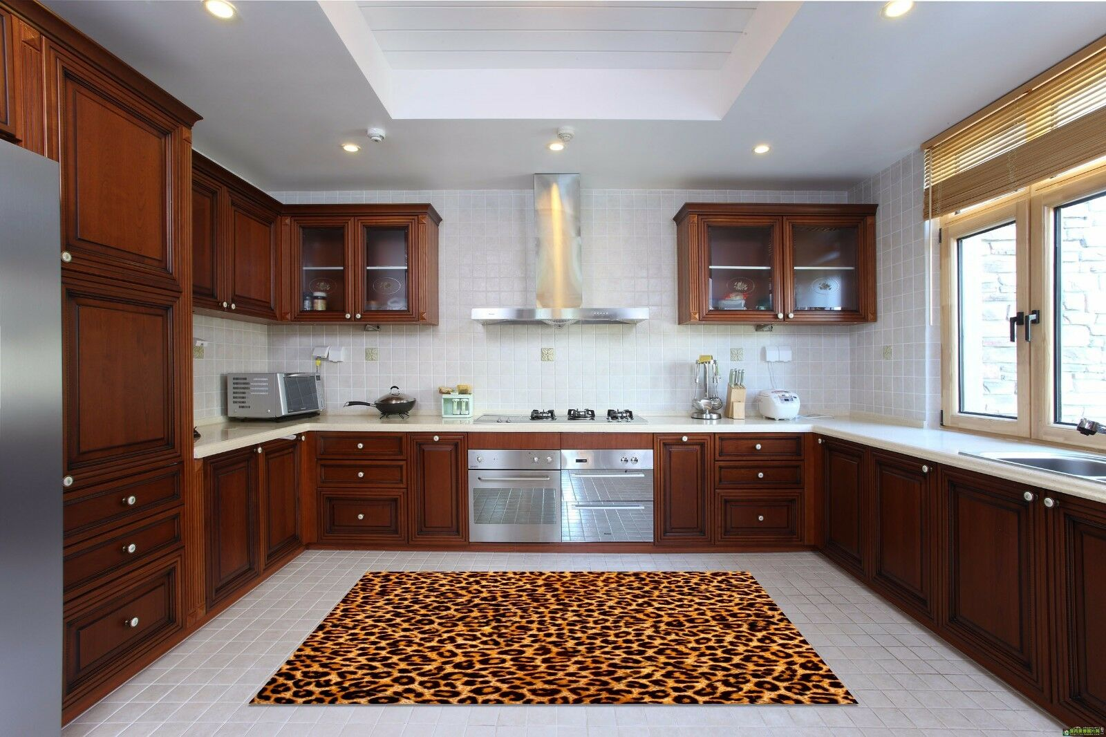 3D Leopard 772 Kitchen Mat Floor Murals Wall Print Wall AJ WALLPAPER AU Kyra