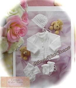 bd2b63044 Knitting Pattern Baby s 4 Piece