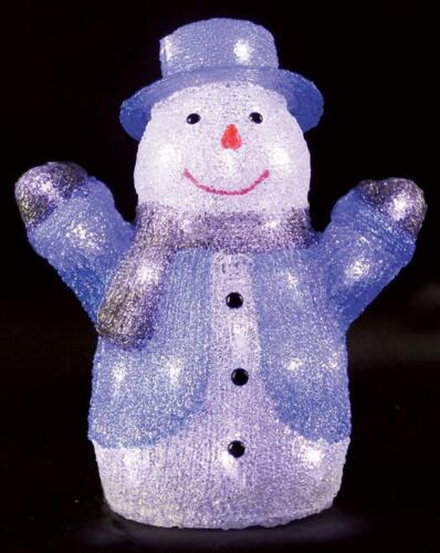 34cm intérieur led acrylique bonhomme de neige de noël décoration de noël display light up