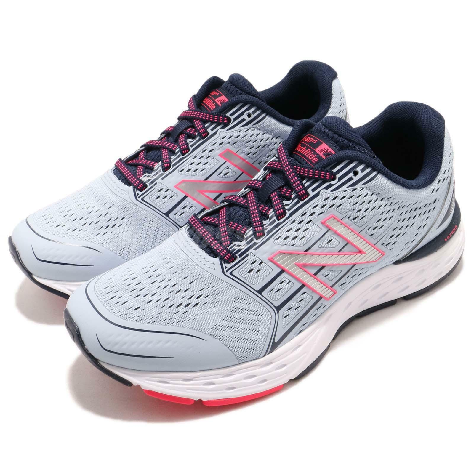 New Balance W680CG5 D Wide Bleu rose Baskets Navy Femme fonctionnement chaussures Baskets rose W680CG5D 6e7a65
