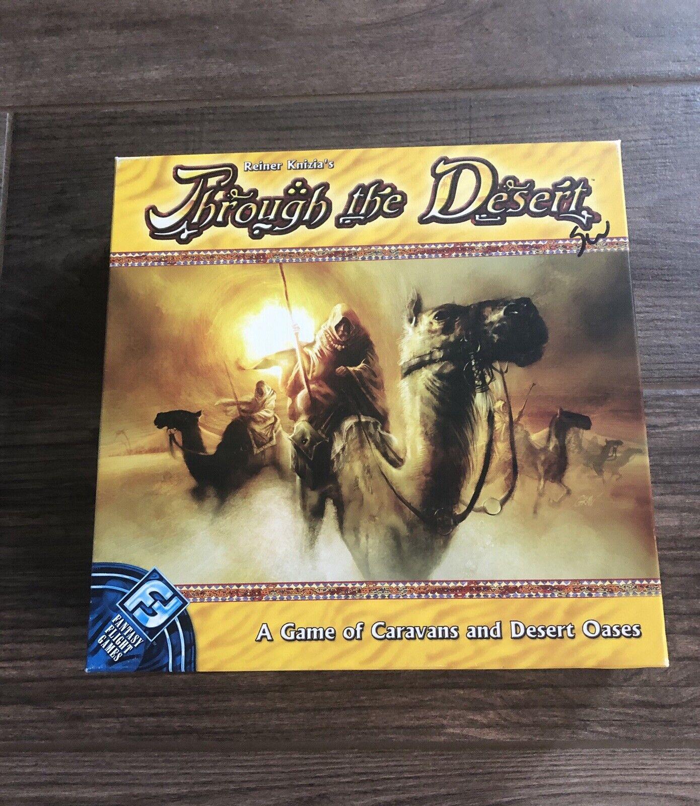 Through The Desert Board Game Reiner Knizia - Fantasy Flight 100% Complete -Mint