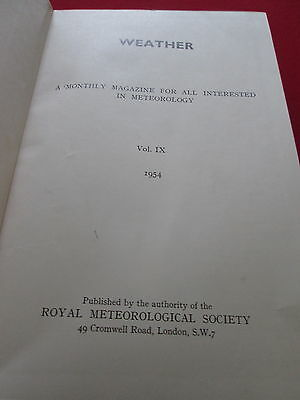 Weather: A Monthly Magazine For All Interested In Meteorology: Vol Ix 1954 Grote Uitverkoop