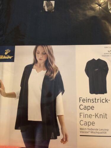 L//XL S//M Dunkelblau Feinstrick-Cape Fine-Knit Cape Gr TCM-Tschibo Neu