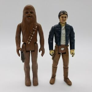 BESPIN-Han-Solo-Chewbacca-Star-Wars-Vintage-Kenner-Action-Figure-Lot-of-2