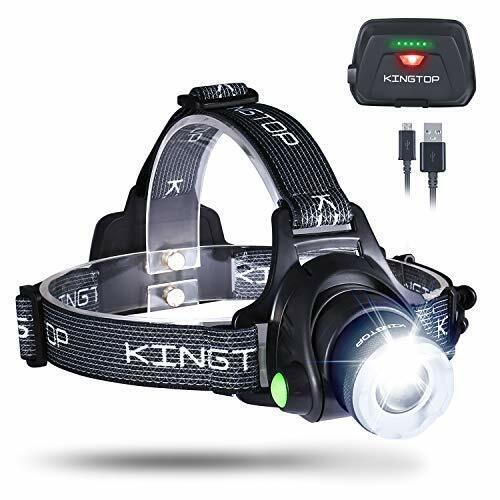 KINGTOP LED Stirnlampe Wasserdicht USB Wiederaufladbare LED Kopflampe 3 Licht...
