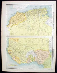 1890-Bartholomew-Large-Antique-Map-North-amp-West-Africa