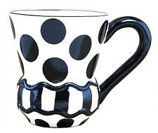 Mainstreet Collection Black Polka Dot Coffee Mug
