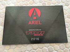 ARIEL ATOM 3  3S  & SRA OFFICIAL ORIGINAL SALES BROCHURE 2016 USA EDITION RARE