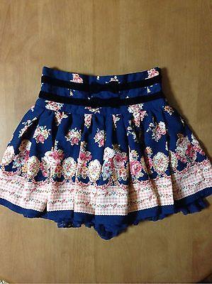 LIZ LISA pre-owned Navy Floral Pants Skirt 0111