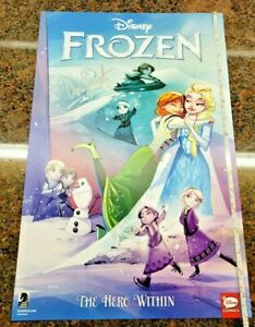 Disney-Comics-Frozen-The-Hero-Within-Poster-SIGNED-by-Joe-Caramagna-Dark-Horse