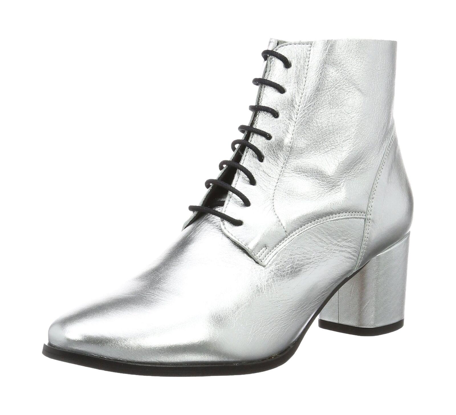 Buffalo London BB 2006 LAMINADO, Damens's Ankle Stiefel Silver (Plata 06) 3 UK