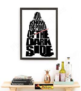Respectueux Star Wars Photo Darth Vader Photos Citation Poster Impression Seulement Carte A4 Imprime Hq-afficher Le Titre D'origine